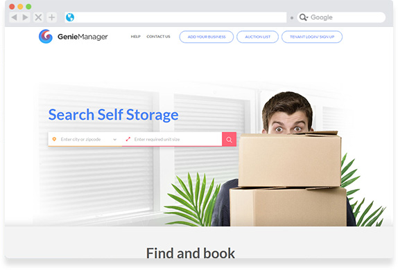 Geniemanager Storage Space Marketplace
