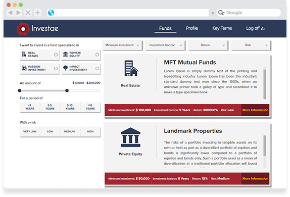 Investment Listing Portal