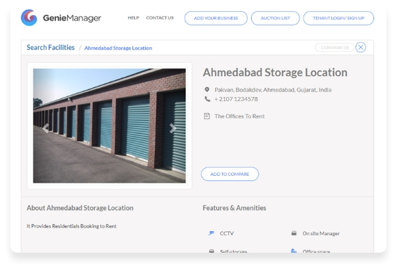 storage space crm & marketplace